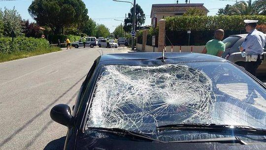 Així va quedar el cotxe després de l'accident.