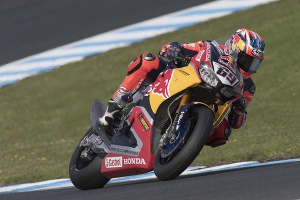 Nicky Hayden en el test del Mundial de Superbikes de Phillip Island aquest 2017.