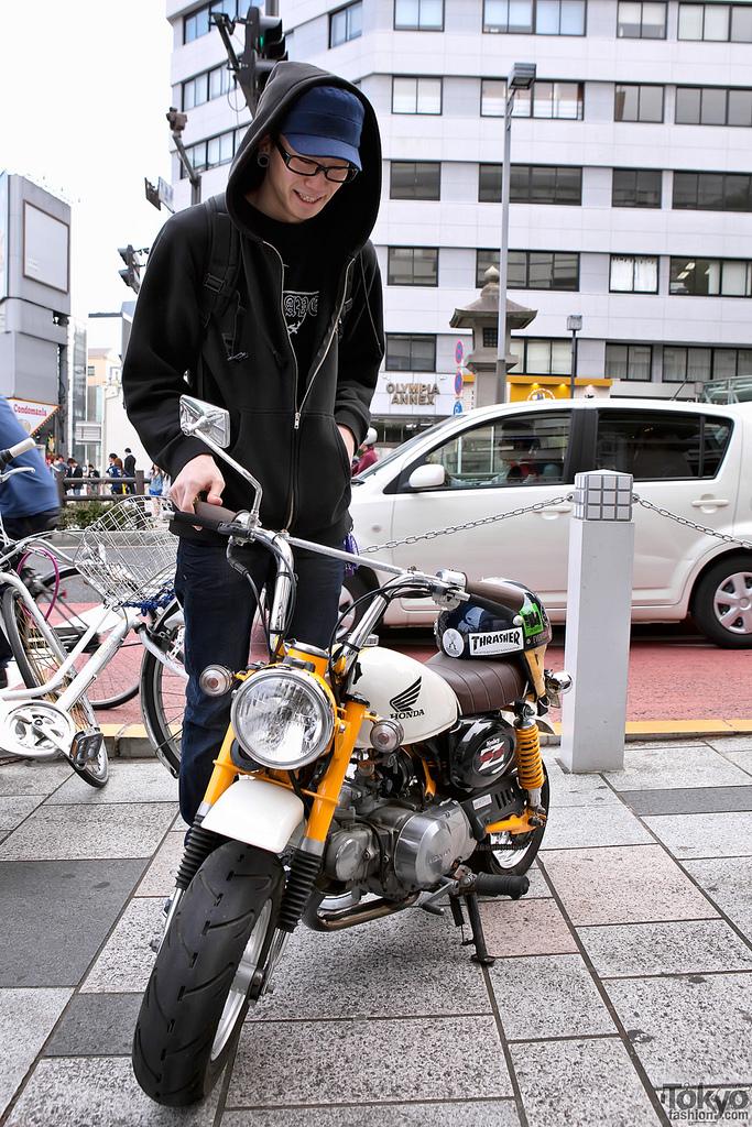 Una de les àgils monkey-bikes. El motociclisme al món: El Japó