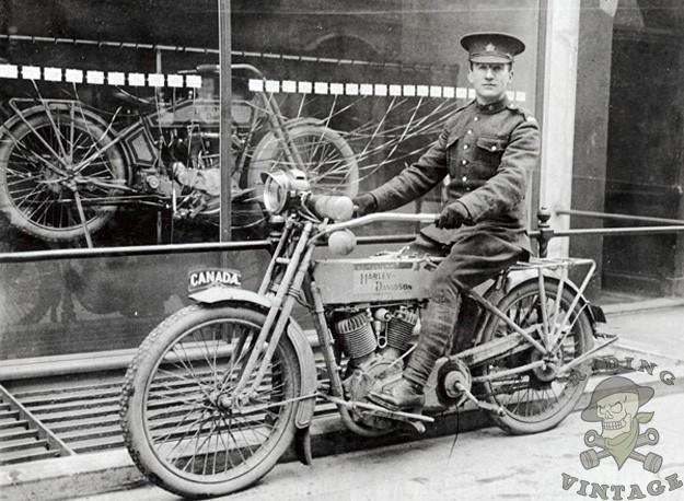 Exemplar d'una H-D durant la Primera Guerra Mundial