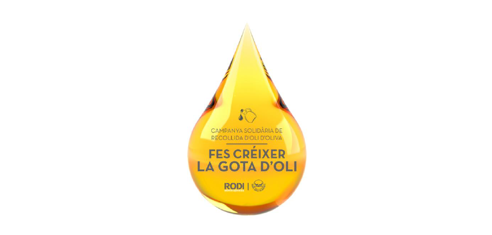 Imatge de la campanya de recollida d'oli d'oliva pel Banc dels Aliments