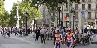 Márquez Pedrosa visiten Barcelona.