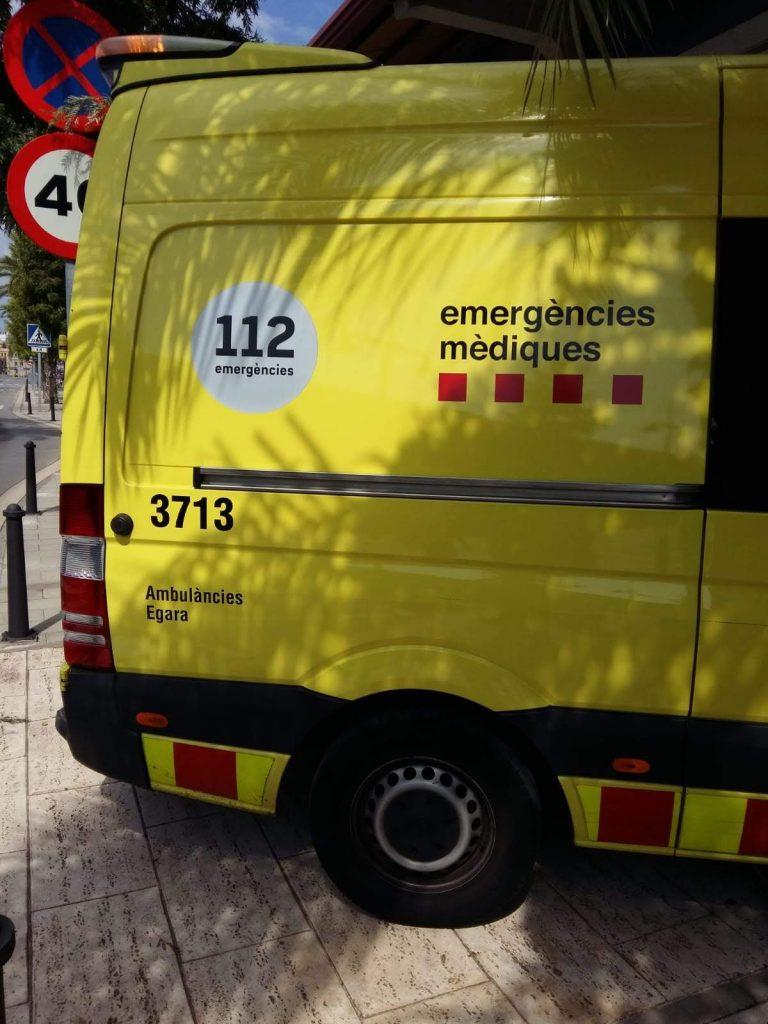 Un motorista en estat crític a Monistrol de Montserrat